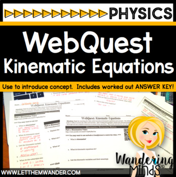 WebQuest: Kinematic Equations