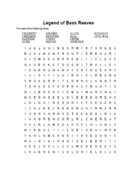 Black History-Bass Reeves-Webquest