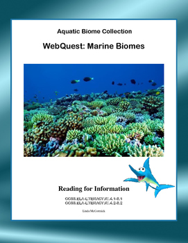 Marine Biome -WebQuest by Linda McCormick | Teachers Pay Teachers