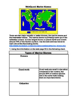 Marine Biome -WebQuest