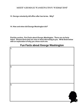 George Washington- WebQuest
