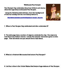 Paul Bunyan Day - Webquest