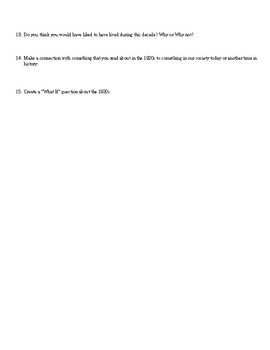 WebQuest-Roaring 20s
