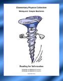 Simple Machines-WebQuest-  CCSS .RI.4.1-8.1-.RI.4.2-8.2