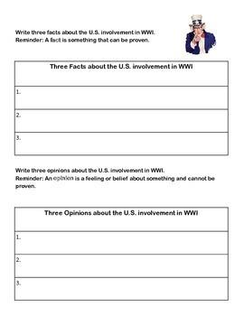 World War I - WebQuest & Task Cards -Bundled for Savings