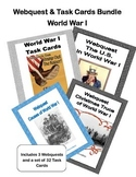 World War 1, WW1, WWI - WebQuest & Task Cards Bundle