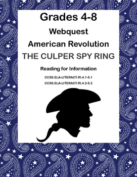 The American Revolution-The Culper Spy Ring -WebQuest