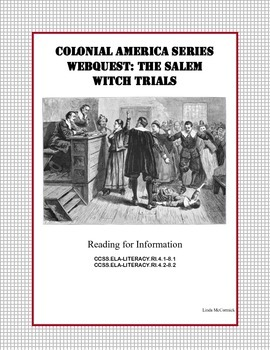 The Salem Witch Trials - WebQuest