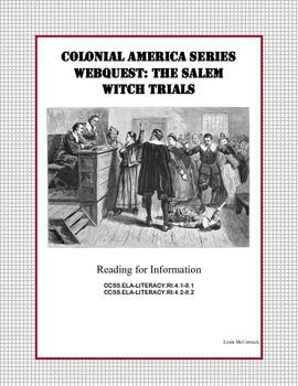 The Salem Witch Trials - WebQuest
