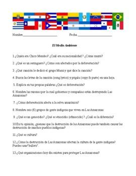 """WebQuest for """"El medio ambiente"""""""