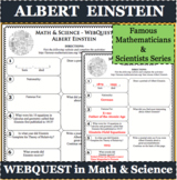 ALBERT EINSTEIN Math Science WebQuest Research Project Biography Graphic Notes