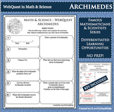 ARCHIMEDES Math Science WebQuest Research Project Biography Graphic Organizer