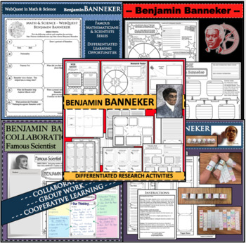 BENJAMIN BANNEKER BUNDLE Research Project Biography Graphic Notes