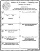 DAVID HILBERT Math Science WebQuest Research Project Biography Graphic Organizer