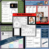 RENE DESCARTES BUNDLE Math Science Research Project Biography Graphic Notes