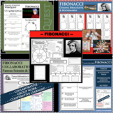 FIBONACCI (Bigollo) BUNDLE Math Science Research Project Biography Notes