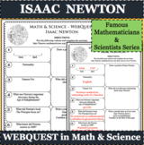 ISAAC NEWTON Math Science WebQuest Research Project Biography Graphic Organizer