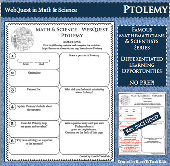 WebQuest in Mathematics & Science - PTOLEMY - Famous Mathematician