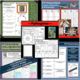 PYTHAGORAS BUNDLE Math Science Research Project Biography Graphic Organizer