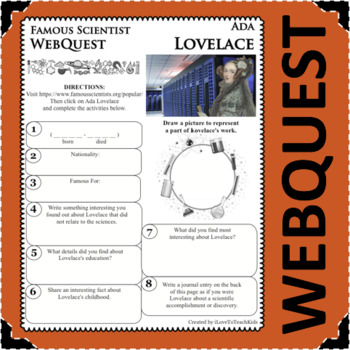 ADA LOVELACE - WebQuest in Science - Famous Scientist - Differentiated