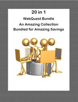 20 WebQuests-Bundle-Social Studies, Science, Lang Arts, and Health