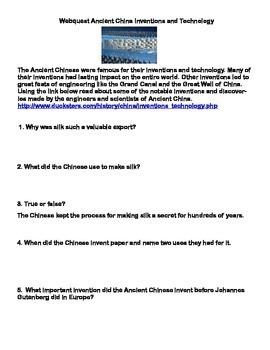 Ancient China- Bundle of Webquests