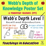 Webb's Depth of Knowledge (Poster Set)