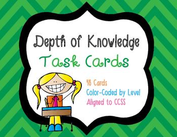 Webb's Depth of Knowledge Task Cards for ELA