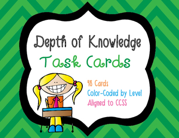Webb's Depth of Knowledge Task Cards for ELA