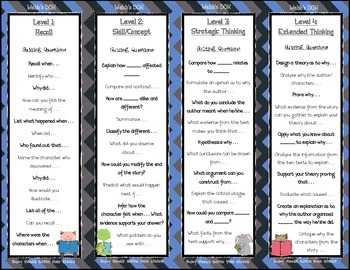 Webb's DOK Question Bookmarks