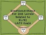DOK Question Stems Correlated to LAFS RI/RL Reading Compre