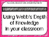 Webb's Depth of Knowledge (DOK) Helper