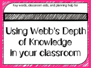 Webb's Depth of Knowledge (DOK) Helper