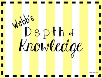 Webb's Depth of Knowledge poster