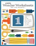 Webb's Wonder Worksheets: Basic Letter Recognition 1