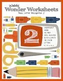 Webb's Wonder Worksheets: Basic Letter Recognition 2