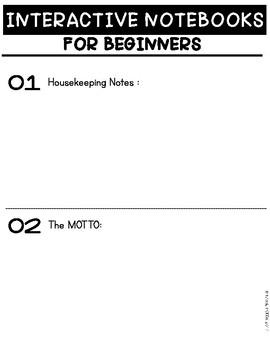 Webinar : Interactive Notebooks for Beginners