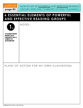 Webinar Workbook - How To Set Up Powerful and Effective Reading Groups