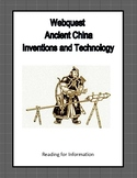 Ancient China- Inventions and Technology-Webquest