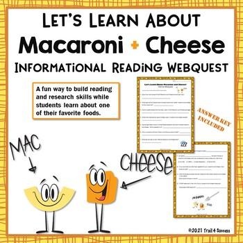 Webquest Bundle Fun Food Facts #2 - Set of 7 Reading Research Activities No Prep