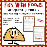 Webquest Bundle Fun Food Facts #2 - Set of 7 Reading Research Activities No Prep