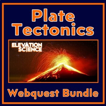 Webquest Bundle:  Plate Tectonics, Ring of Fire & U.S. Active Volcanoes