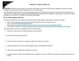 Webquest: Credit and Credit Cards