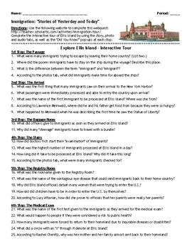 Webquest: Ellis Island & the Immigration Experience (Scholastic)
