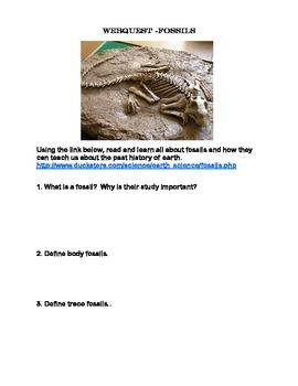 Fossils -  Webquest
