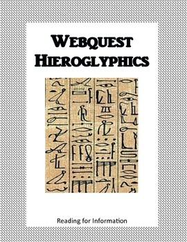 Hieroglyphics - Ancient Egypt - Webquest