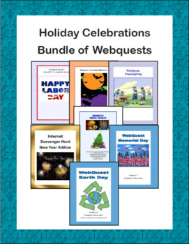 Holiday Celebrations Bundle of Webquests
