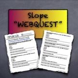 Webquest Investigation - Slope of a Line
