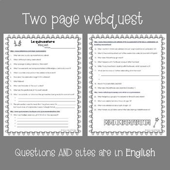 La quinceañera Webquest