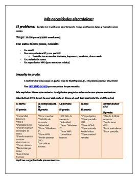 Webquest: Los aparatos tecnológicos (A Webquest on Technological applicances)